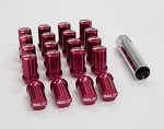 SSR Wheels - GT Forged Lug Nuts - Forged Aluminum - Red - 12x1.25mm